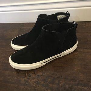 Women's Sperry Pier Wave Black Slip-On Booties